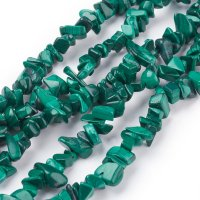 Malachite, chips 6-10mm string