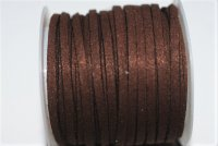 Suade, coffee brown 3x1.4mm /meter