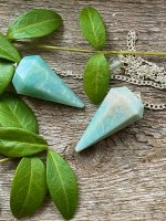Amazonite, cone Pendant with chain