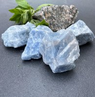 Calcite, blue rough AA 500gr