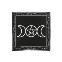 Altar cloth, Black triple moon 70x70cm